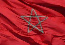 Marokkanische Markierungsfahne Stockfotografie
