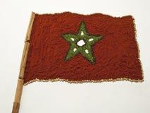 Marokkanische Markierungsfahne unter Verwendung der Gewürze Lizenzfreies Stockfoto