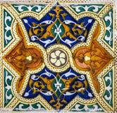 Marokkanische Mosaikfliese, keramische Dekoration der Moschee, Tanger, Moro Lizenzfreies Stockfoto