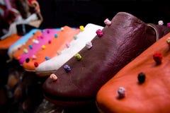 Marokkanische Schuhe Stockfotografie