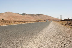 Marokkanische Wüstenstraße Lizenzfreie Stockfotografie