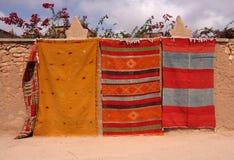 Marokkanische Wolldecken Stockbilder