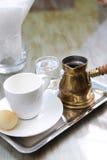 Marokkanischer Kaffee oder arabischer Kaffee stockfotos
