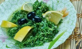 Marokkanischer Malven-Salat lizenzfreies stockfoto