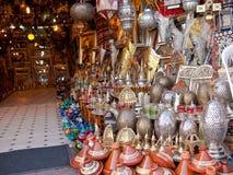 Marokkanischer Speicher mit Eisenprodukten Lizenzfreie Stockfotos