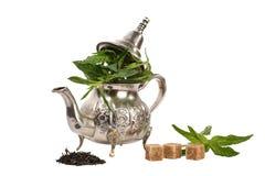 Marokkanischer tadelloser Tee lizenzfreie stockfotos