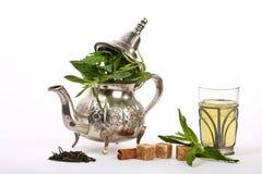 Marokkanischer tadelloser Tee Stockfoto
