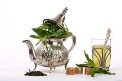 Marokkanischer tadelloser Tee stockbild