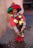 Marokkanischer Wasserverkäufer Marrakesch Stockfoto