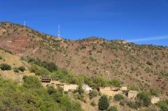 Marokkanisches Dorf in den Anti-Atlasbergen lizenzfreie stockbilder