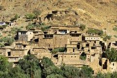 Marokkanisches Dorf in den Anti-Atlasbergen stockfoto