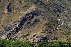 Marokkanisches Dorf in den Anti-Atlasbergen lizenzfreies stockbild