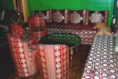 Marokkanisches Wohnzimmer Lizenzfreies Stockbild