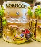 Marokko-Andenken am Shop Stockbild
