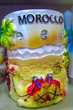 Marokko-Andenkenschale mit Kamel Lizenzfreie Stockbilder
