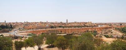 Marokko, de stad van Meknes, stadsmuur Royalty-vrije Stock Foto