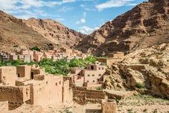 Marokko, de Todgha-Kloven stock afbeeldingen
