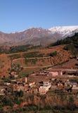 Marokko-Dorf in den Atlas-Bergen Lizenzfreie Stockbilder