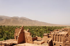 Marokko, Draa-Tal, Kasbah von Tamnougalt Stockbilder