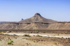 Marokko, Draa-Tal, Steinfluß Lizenzfreies Stockbild
