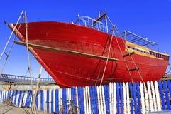 Marokko, Essaouira: vissersboten royalty-vrije stock afbeelding