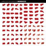 Marokko-Flagge, Vektorillustration Lizenzfreie Stockfotografie