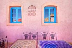 Marokko-Gaststätteauslegung Stockfoto