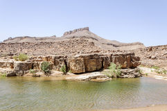 Marokko, Hamada du Draa, Teich Stockfotos