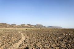 Marokko, Hamada du Draa, Weg Lizenzfreies Stockbild