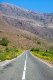 Marokko, hohe Atlas-Berge, Ackerland auf dem fruchtbaren Stockbild