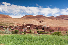 Marokko, Hoog Atlaslandschap Vallei dichtbij Marrakech op de weg Royalty-vrije Stock Foto's