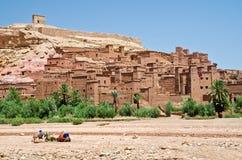 Marokko, Kasbah van AIT Benhaddou Stock Fotografie