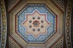 Marokko, Marrakech Binnen Gr Bahia Palace Stock Afbeeldingen