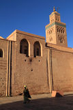 Marokko, Marrakech, Koutoubia-Moskee Stock Afbeeldingen