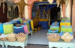 Marokko, Marrakech, Medina, kruidmarkt Stock Foto's