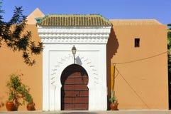 Marokko, Marrakeh: De moskee van Koutoubia Stock Afbeelding