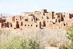 Marokko Ouarzazate - Ait Ben Haddou Medieval Kasbah Royalty-vrije Stock Fotografie