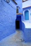 Marokko-typische Straße Stockfotografie
