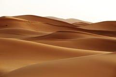 marokko Zandduinen van de woestijn van de Sahara Stock Foto's