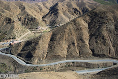 Maroko mauntain road landscape, Royalty Free Stock Photography