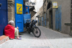 Maroko podróż wąska ulica Zdjęcia Royalty Free