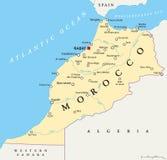 Maroko Polityczna mapa Zdjęcie Stock