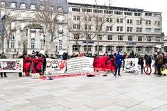 Maroko protest w Niemcy Zdjęcia Royalty Free