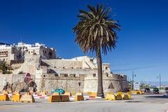 Maroko, Tanger Antyczny forteca w starym miasteczku fotografia stock