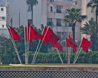 Maroko zaznacza falowanie zdjęcia stock