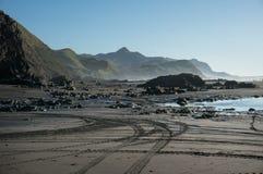 Marokopa beach at dusk Stock Photography