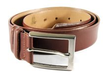Maron leather belt. View of a classic leather belt Stock Image
