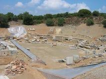 Maroneia罗多彼州希腊古老剧院  免版税图库摄影