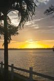 Maroni river sunset Stock Photo