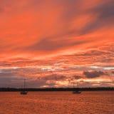 Maroni sunset Royalty Free Stock Images